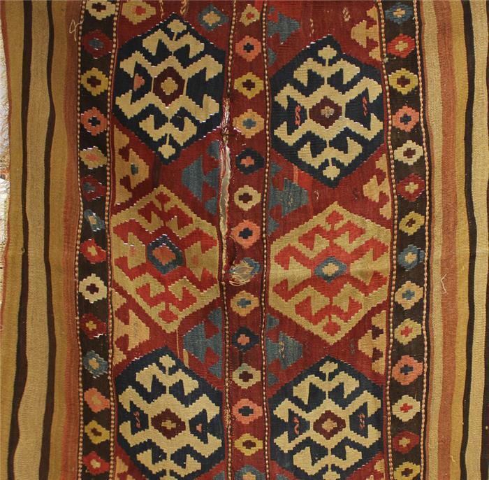 Kelim (Anf. 20. Jh.), ca. 113x 117 cm.