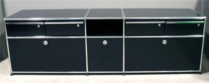 lowboard usm haller objektdetail auktionshaus. Black Bedroom Furniture Sets. Home Design Ideas