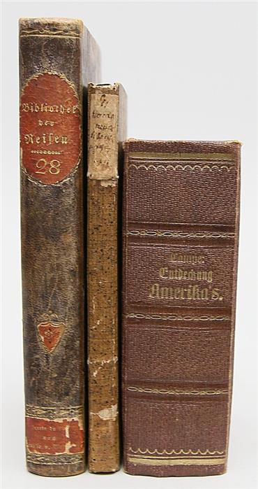 3 Bücher über Amerika aus dem 18./19. Jh.