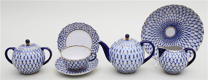 Teeservice für sechs Personen, Lomonossow,
