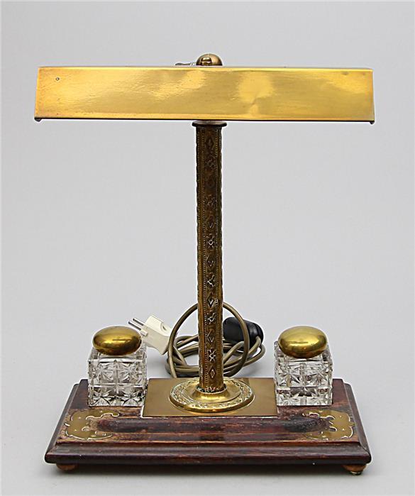 Art Deco-Schreibtischleuchte, 2-flammig.