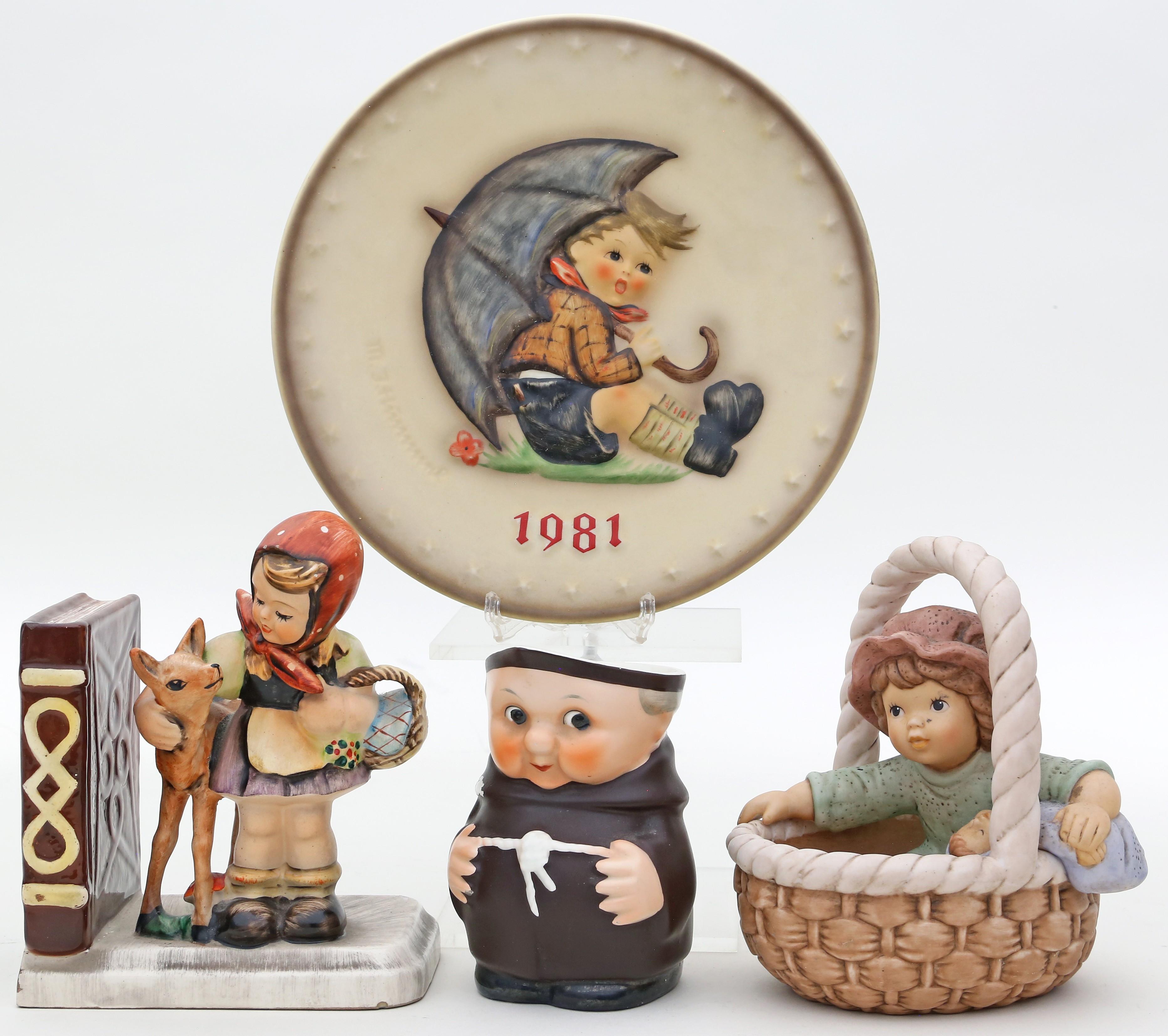 3Teile Keramik, Goebel.