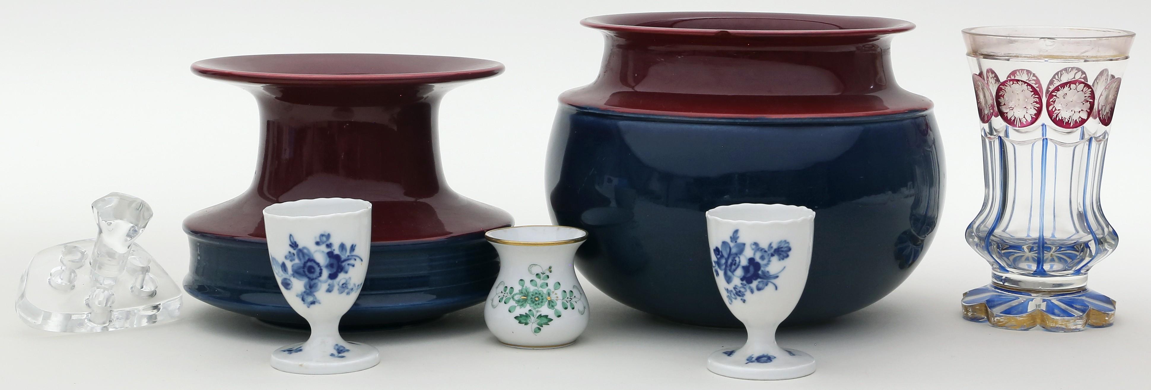 7 Teile Porzellan/Glas/Keramik: