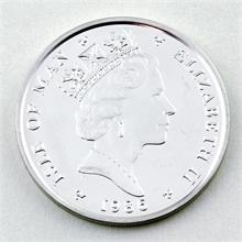 Platinmünze, Isle of Man, Elisabeth II., 1 Noble, 1986.
