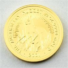 Goldmünze, Australien, 50 Dollar - The Australian Nugget 1/2 Unze, 2001,