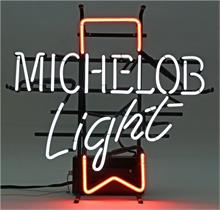 "Neon-Reklame ""Michelob Light""."